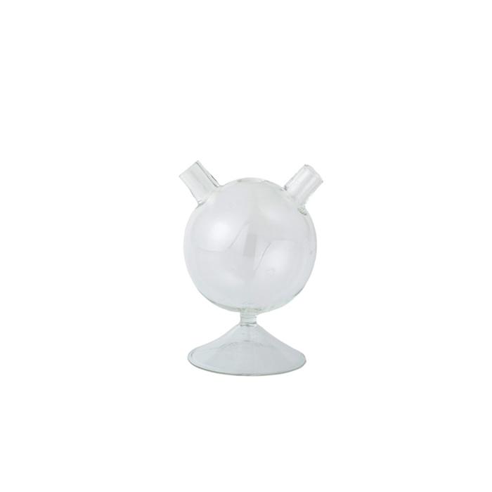 Bicchiere Il Cosino con base e due imboccature in vetro soffiato cl 23
