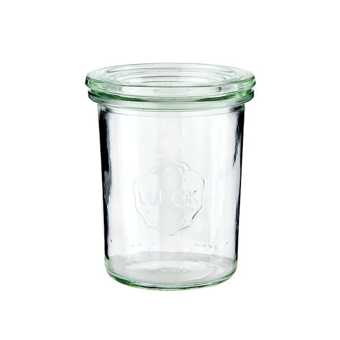 Vasetto Weck con coperchio in vetro cl 16