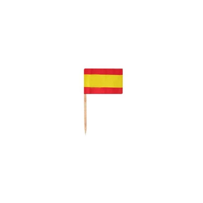Stuzzichini bandiere spagnole in legno cm 3,5 x 2,5