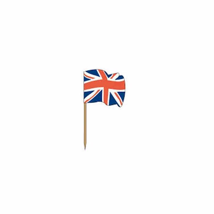 Stuzzichini bandiere inglesi in legno cm 3,5 x 2,5
