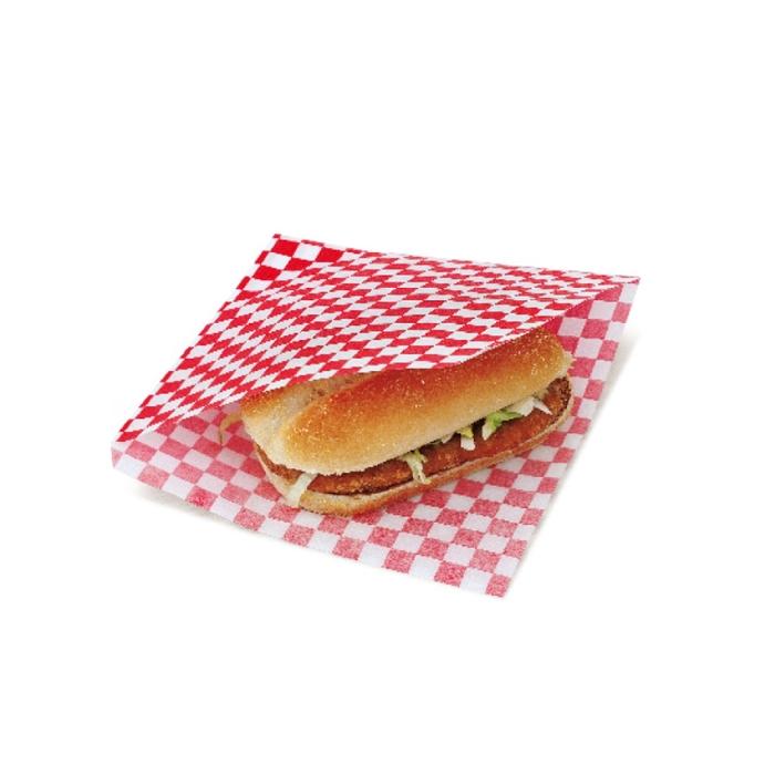 Sacchetti per hamburger kebab in carta bianca rossa cm 16x16,5