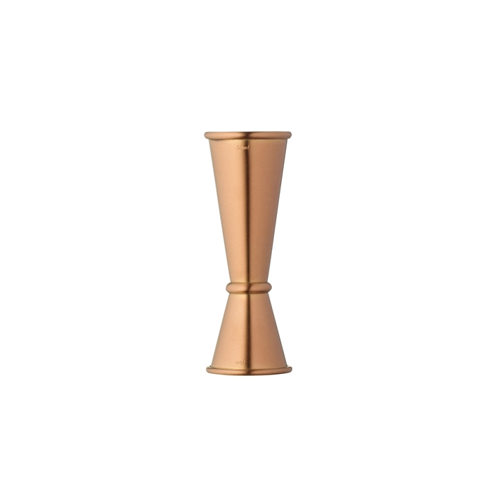 Misurino Jigger Ginza Urban Bar in acciaio inox rose gold cl 2,5 e 5