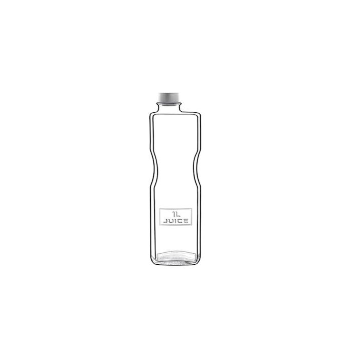 Bottiglia Optima Juice Luigi Bormioli in vetro trasparente lt 1