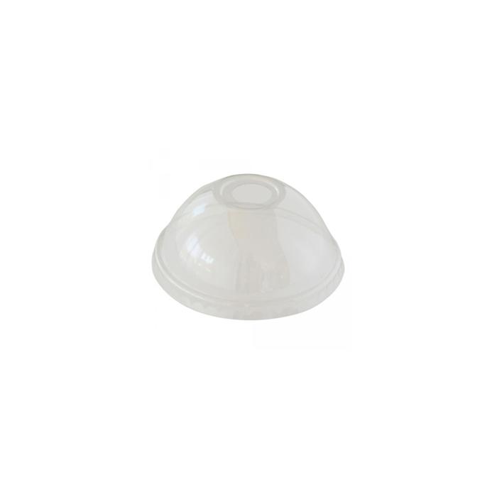 Coperchi bombati senza foro in apet trasparente cm 10