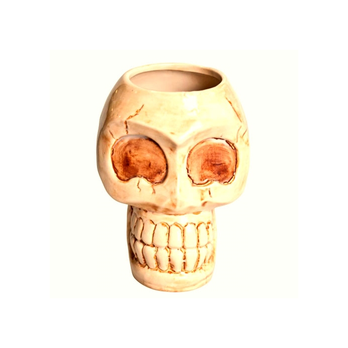 Tiki mug teschio in ceramica cl 80
