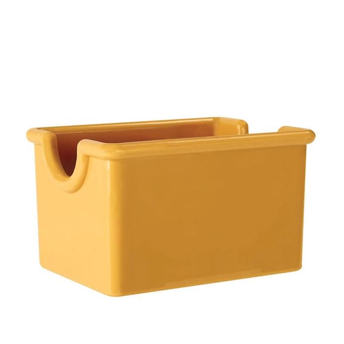 Porta bustine in san giallo cm 8,9X6,4X5,1