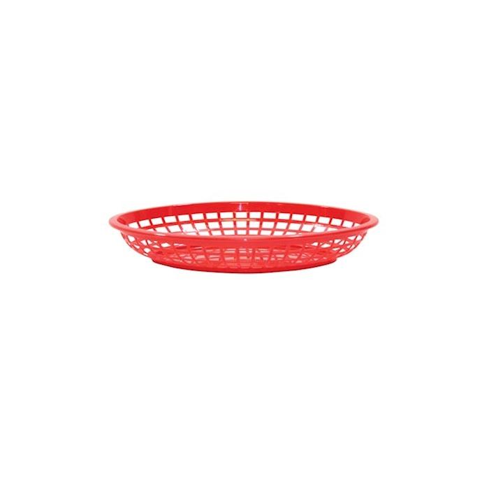 Porta pane ovale in polipropilene rosso cm 24,1x15,1