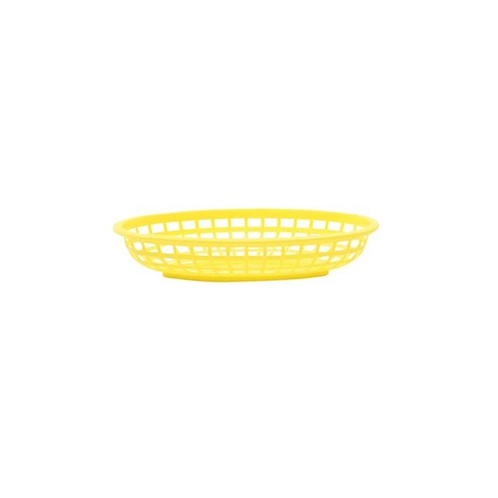 Porta pane ovale in polipropilene giallo cm 24,1x15,1