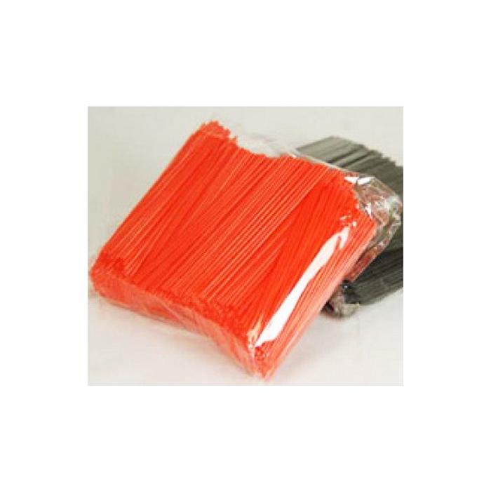 Cannuccia corta arancione in plastica cm 12 x 0,3