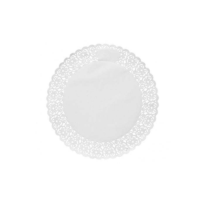 Pizzi tondi in carta bianca cm 30