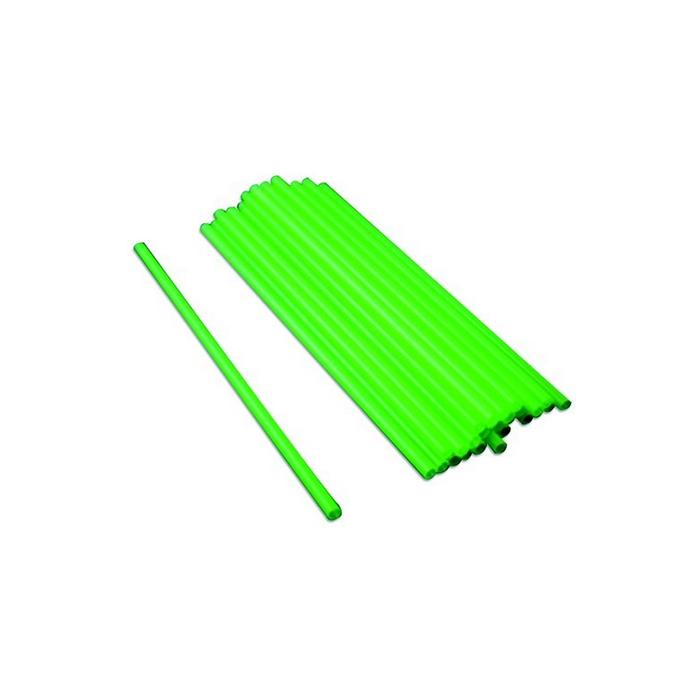 Cannuccia corta verde in plastica cm 12 x 0,3