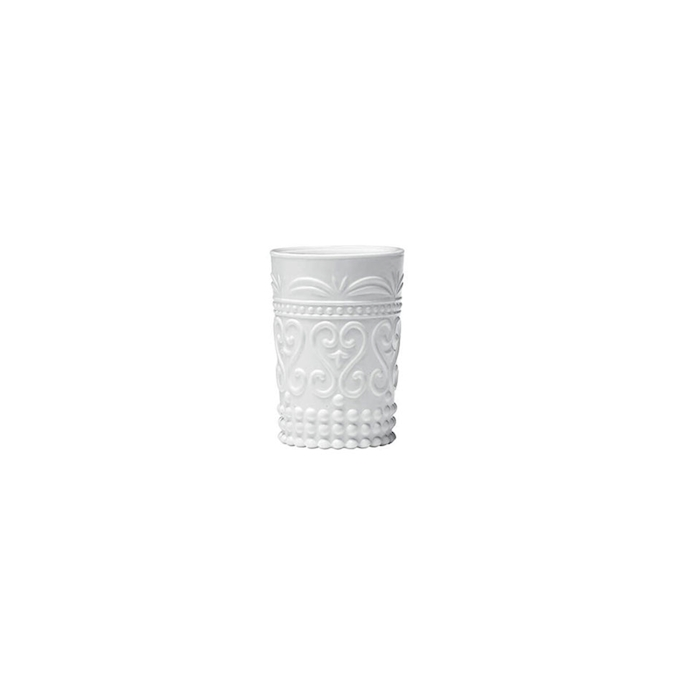 Bicchiere provenzale Rock Zafferano in vetro bianco cl 27