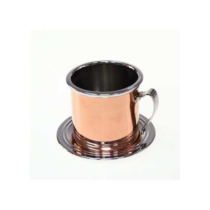 Sottobicchiere RG per Mint julep in acciaio inox cm 12