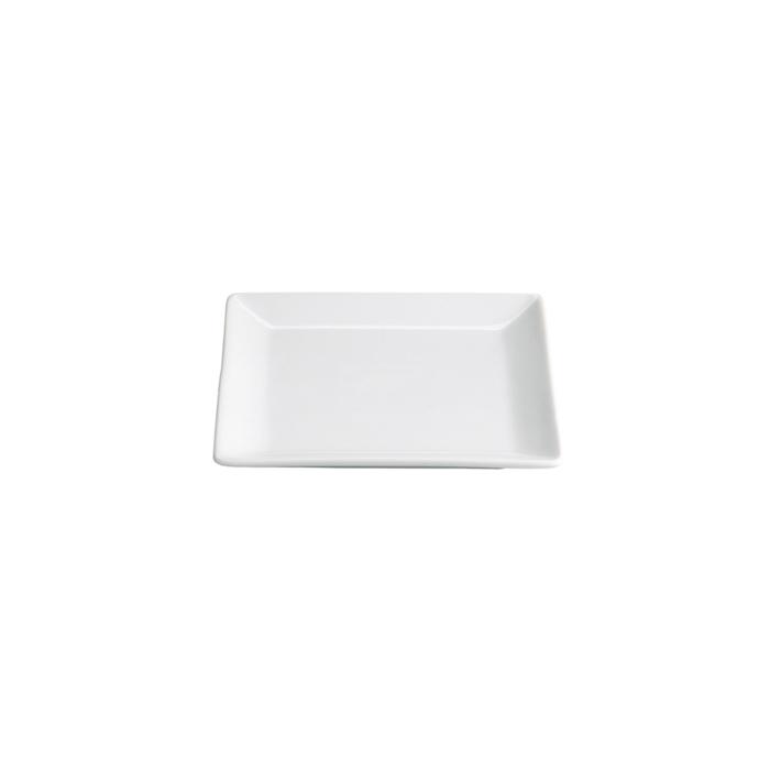 Piattino Quadro Ming in porcellana bianca cm 12