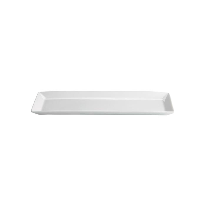 Vassoio rettangolare Ming in porcellana bianca cm 28x16