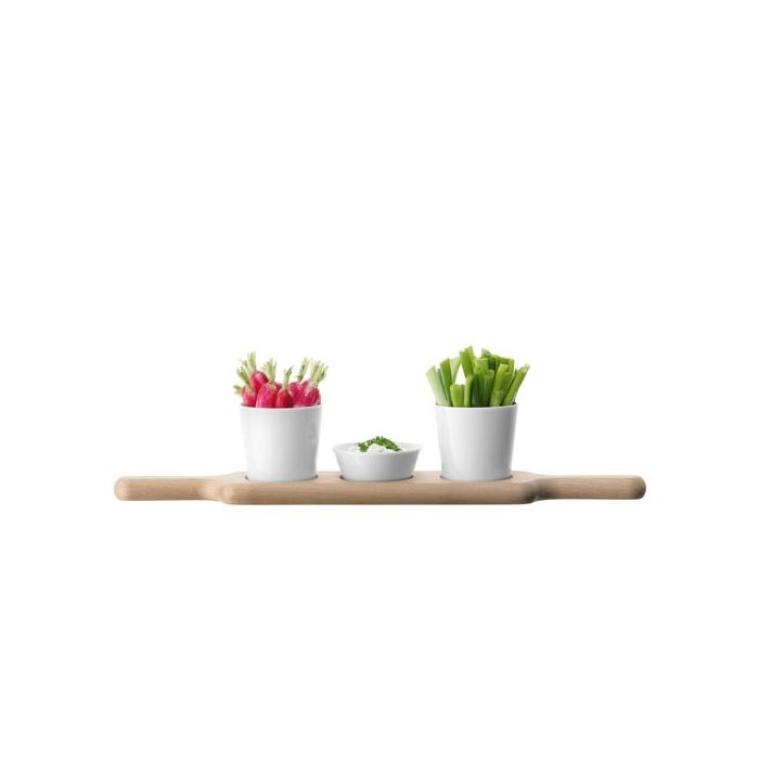 Set aperitivo Paddle LSA ciotole in porcellana e vassoio