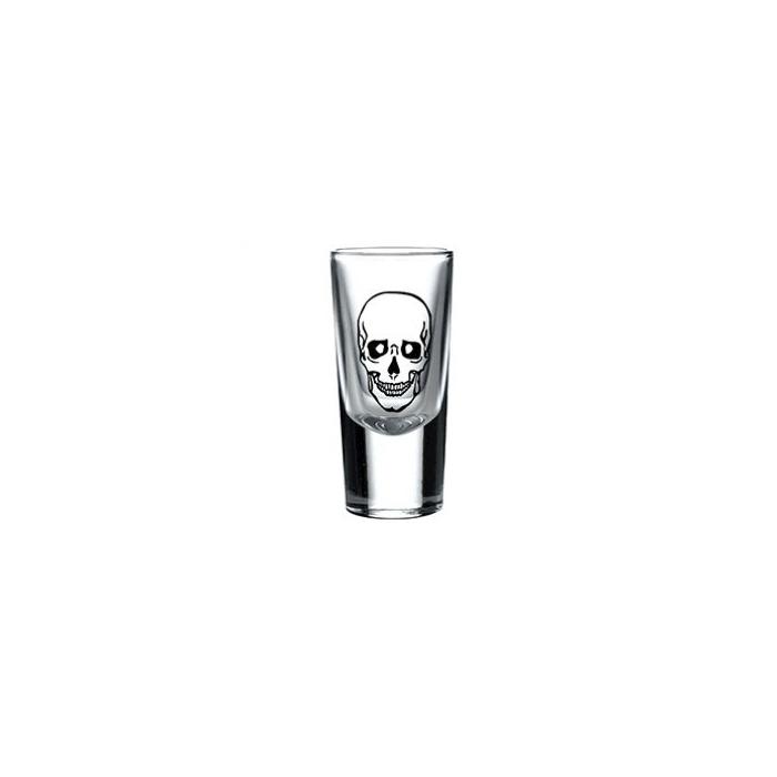 Bicchiere Tequila con decoro teschio happy cl 2,5