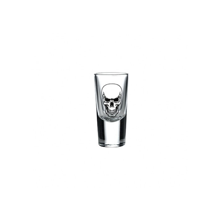 Bicchiere Tequila con decoro teschio scary cl 2,5