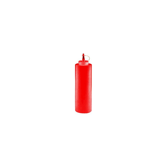 Squeeze bottle con tappo in PE rosso cl 24