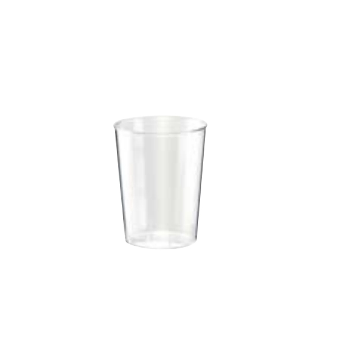 Bicchiere liquore con tacca in plastica cl 5