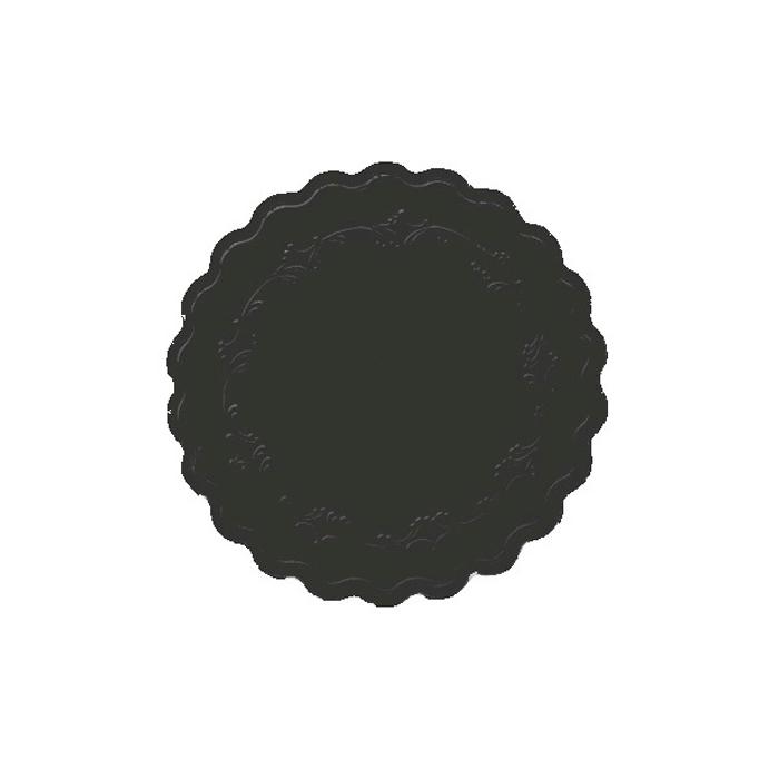 Sottobicchieri monouso Romance Duni nero cm 9
