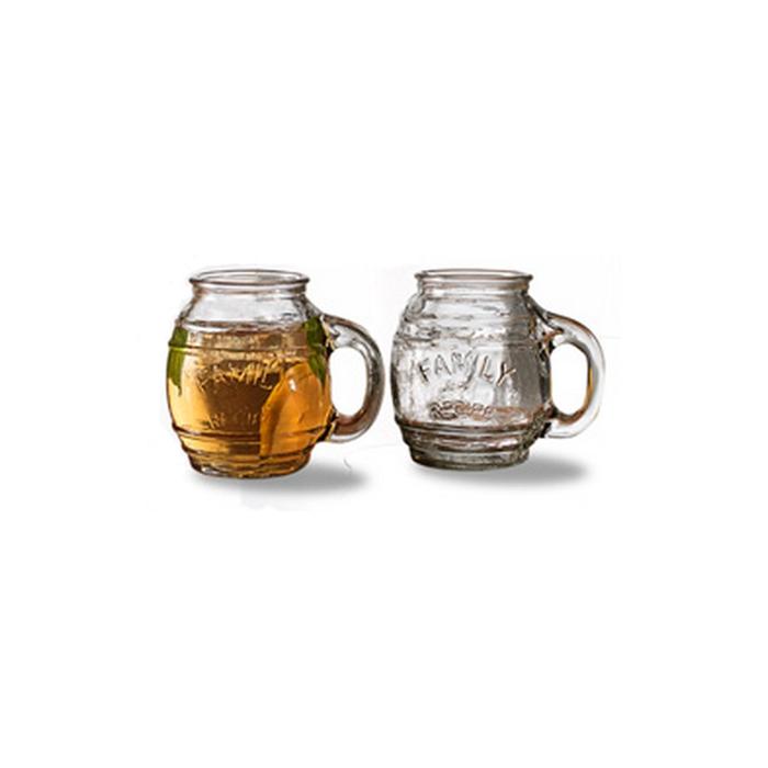 Bicchiere Barrel in vetro con manico cl 51.7