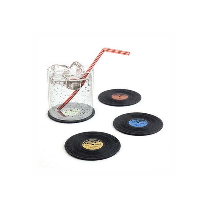 Sottobicchieri the Coaster in silicone nero cm 9