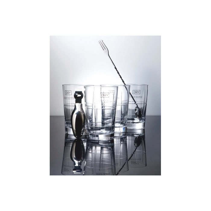 Set Gintonic Dry in acciaio inox e vetro