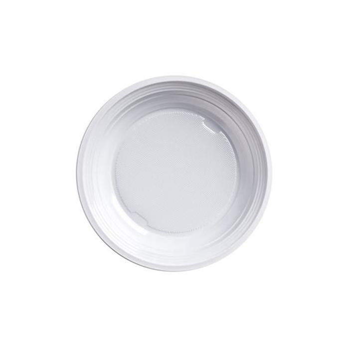 Piatto piano bianco in plastica cm 20,5