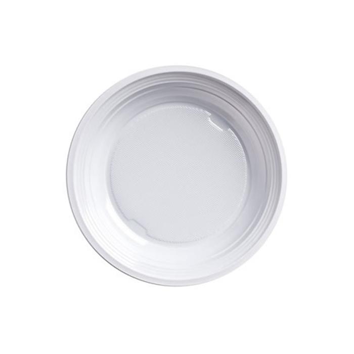 Piatto fondo bianco in plastica cm 20,5