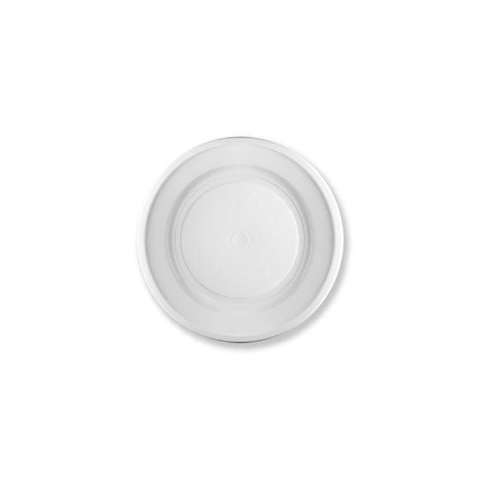 Piatto fondo in plastica bianca cm 22