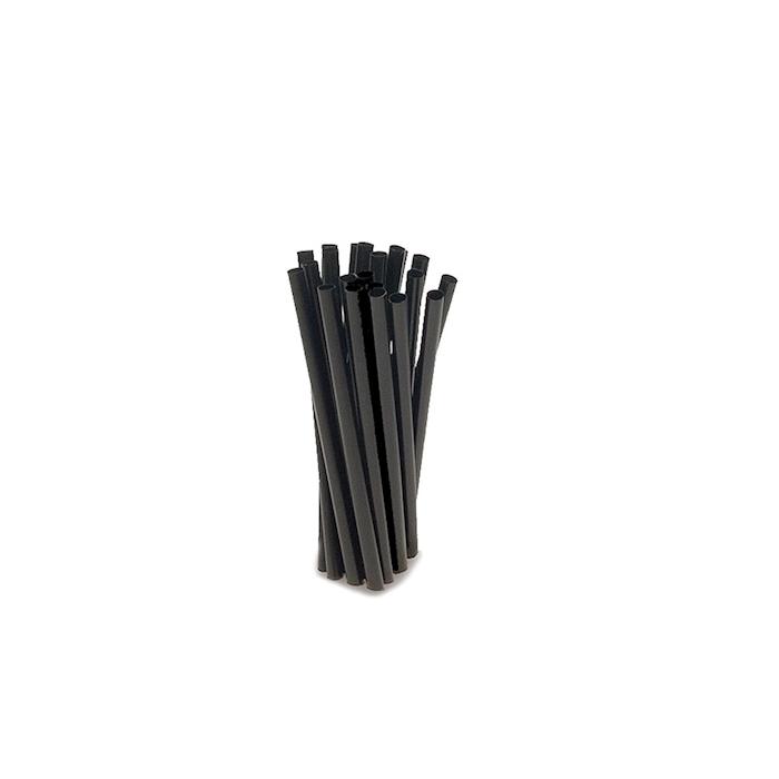 Cannuccia drinking straw plastica cm 13,5 nero