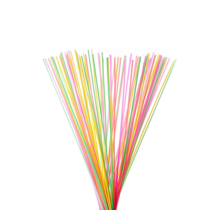 Cannuccia drinking straw in plastica colori assortiti lunga cm 100