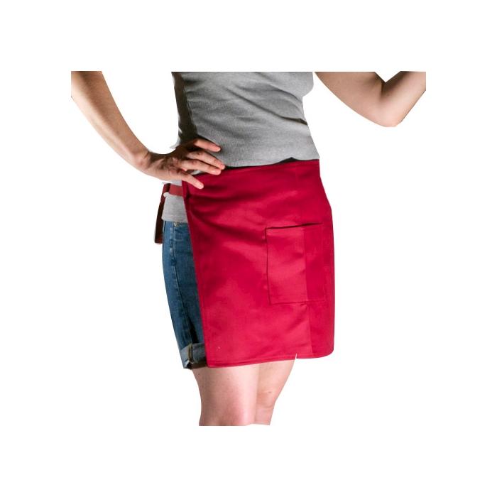 Grembiule biliardo con tasca spigato bordeux cm 50x40