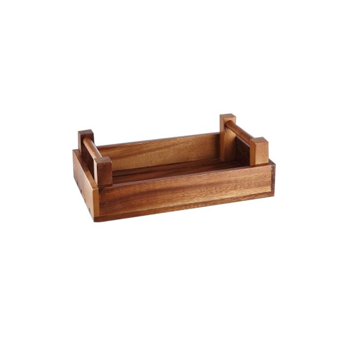 Portapane alzata rettangolare Wood Buffet Churchill in legno cm 34x20x10