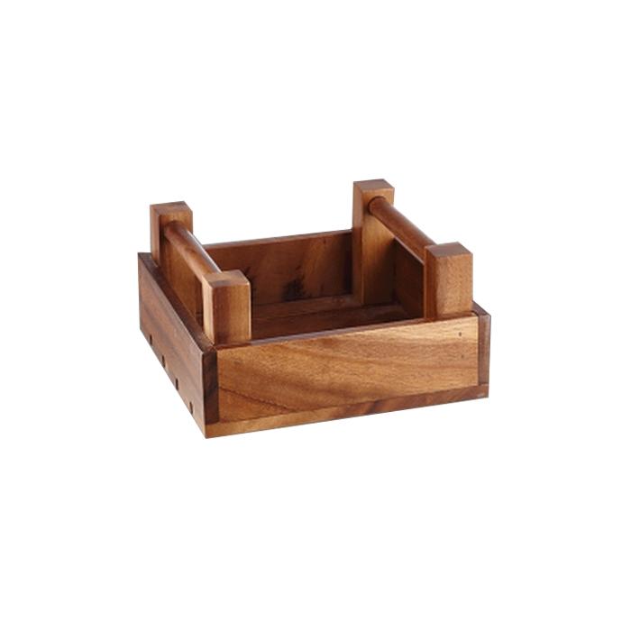 Portapane alzata rettangolare Wood Buffet Churchill in legno cm 20x20x10