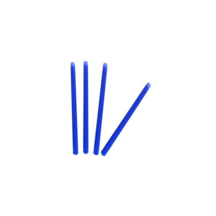 Cannuccia drinking straw in plastica blu cm 21