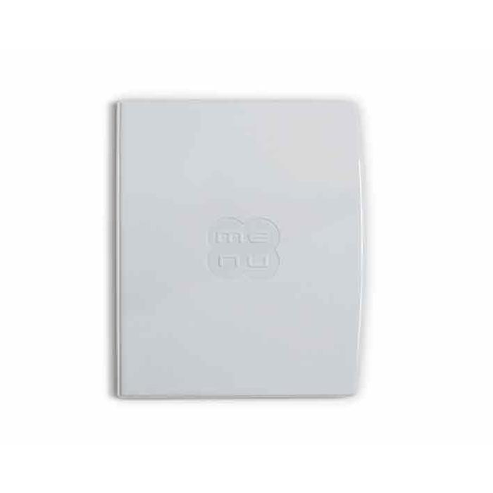 "Porta Menù Glossy A4 ""Menù"" In plastica bianca Cm 31,5×24"