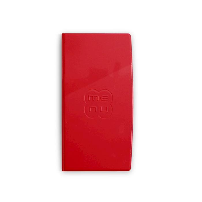 """Porta Menù Glossy midi """"Menù"""" In plastica rossa Cm 31,5x18"""