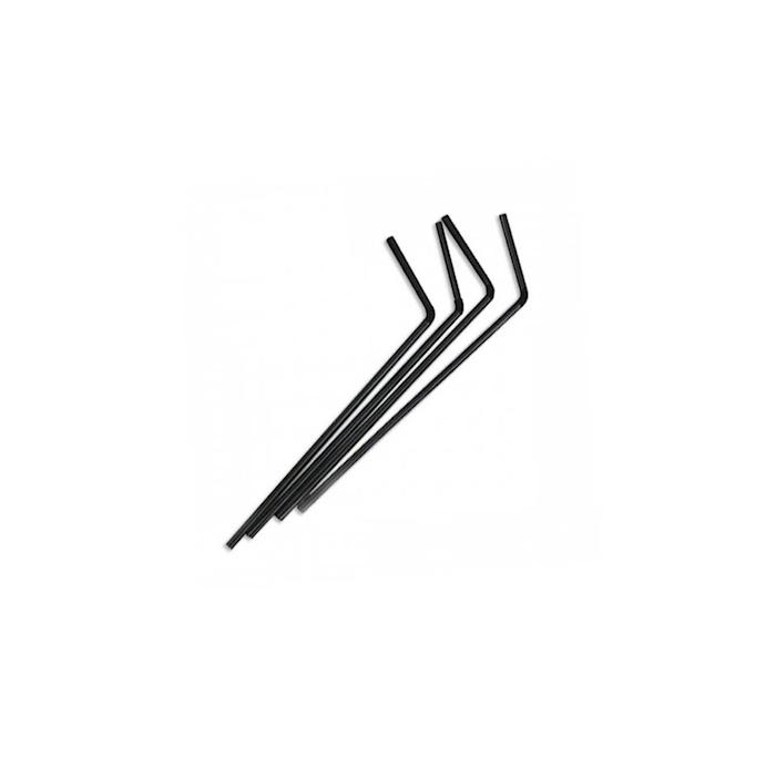 Cannucce Drinking Straws pieghevoli in plastica cm 24 nero