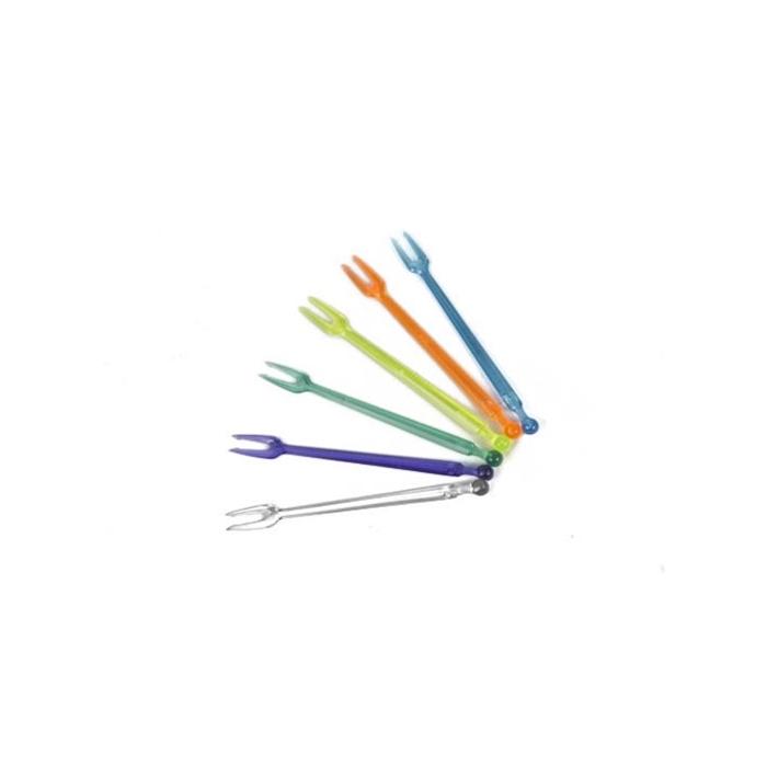 Forchettine Party in plastica colori assortiti cm 8,5