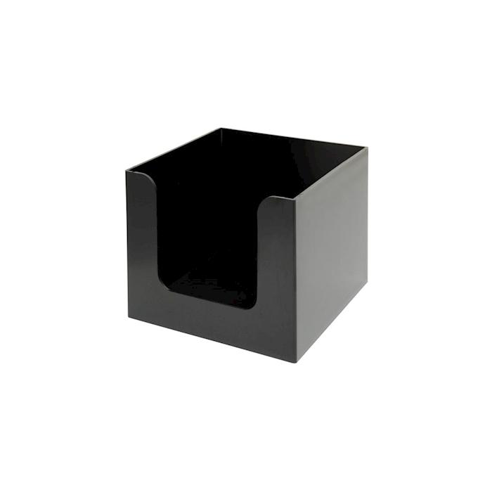Porta tovaglioli in plastica nera cm 13,5x13,5x10,2