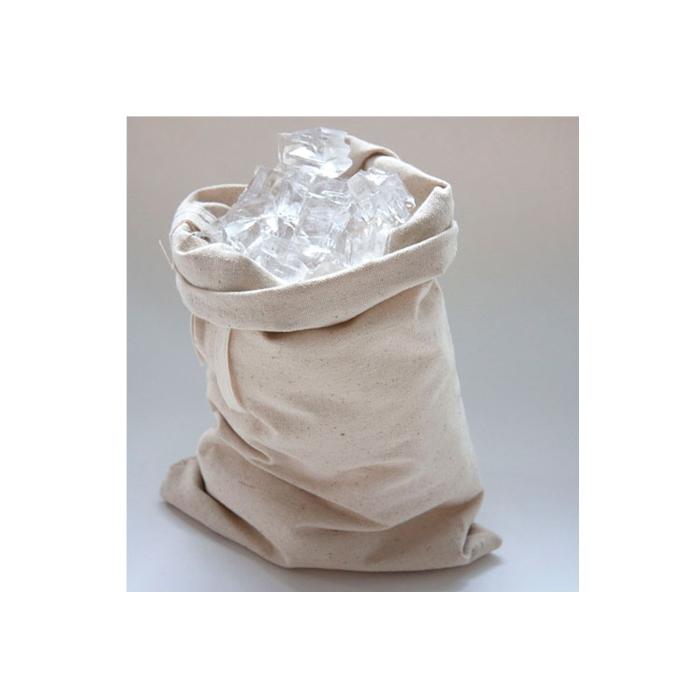 Sacchetto per ghiaccio in cotone beige