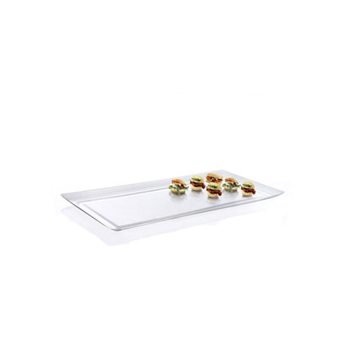 Vassoi rettangolari Hola 100% Chef in plastica trasparenti cm 48x23,6