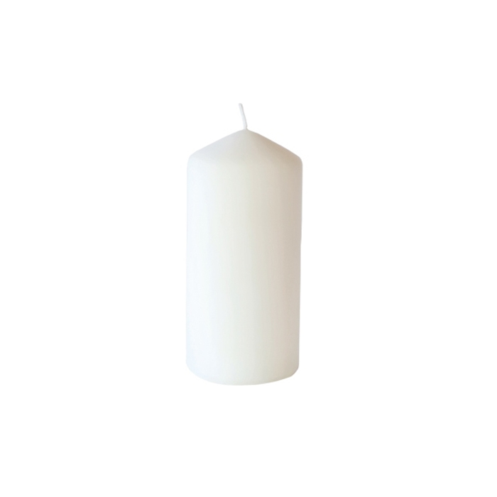 Candela Pillar Duni bianca cm 15x7