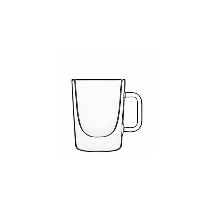 Bicchiere latte termico Aroma Luigi Bormioli in vetro cl 30