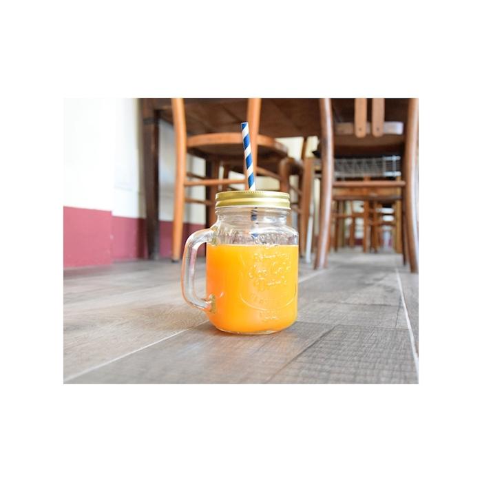 Bicchiere barattolo Alabama con coperchio forato cl 48