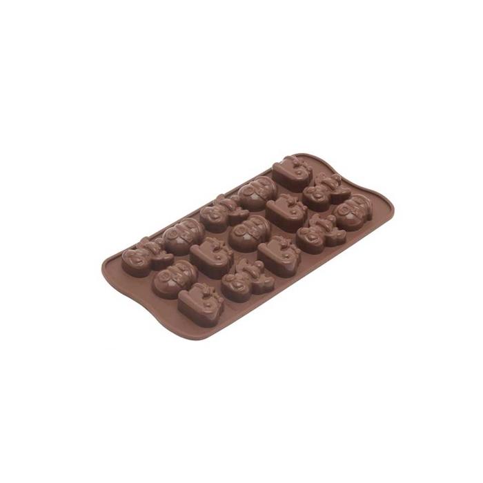 Stampo cioccolatini Winter Natale 15 impronte in silicone