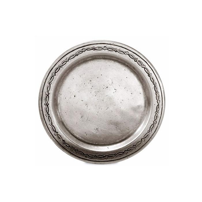 Sottobicchieri Antioco Cosi Tabellini in peltro satinato cm 10,5