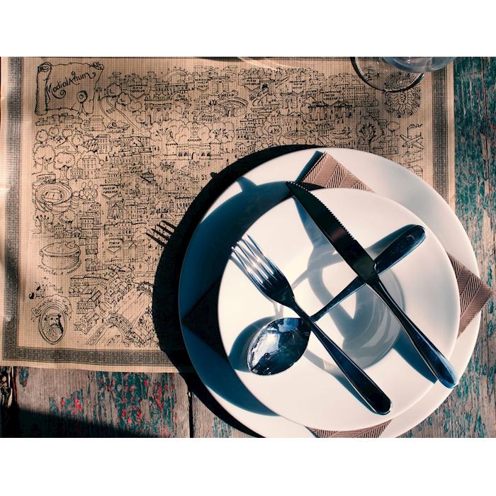 Tovaglietta Milano in carta marrone cm 43x31